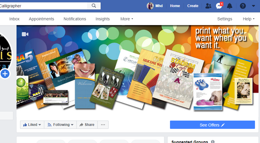 Facebook Cover page area