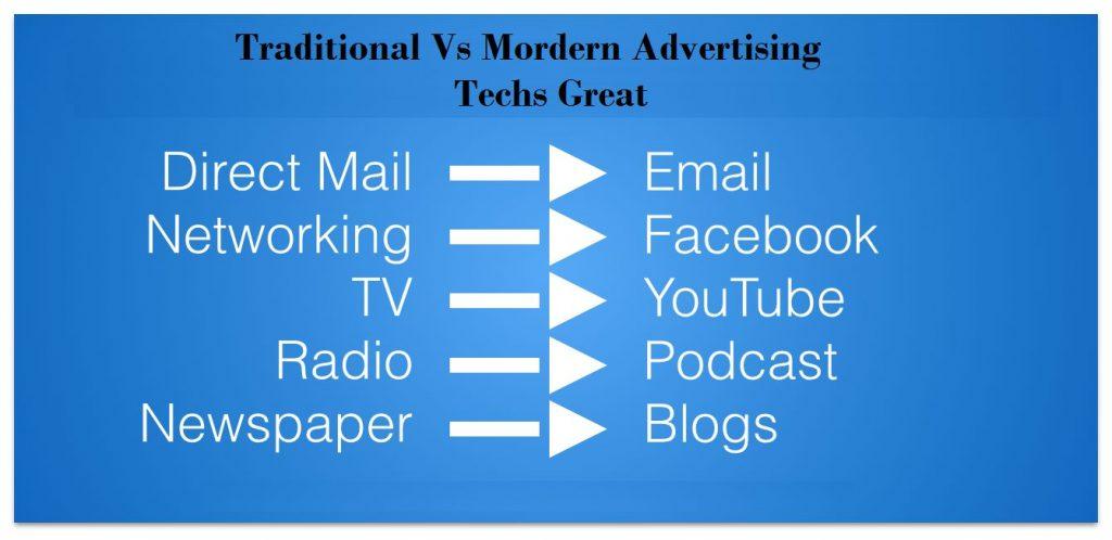 Tradtional vs Modern Advertising