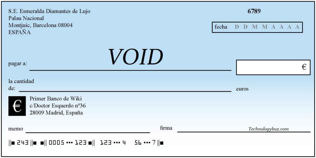 What is Voided Check